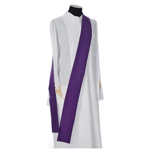 Dalmatic with embroidered loaves and fishes 100% polyester 8