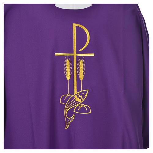 Dalmatic with embroidered loaves and fishes 100% polyester 9