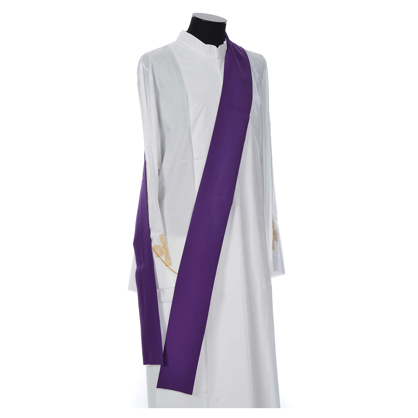 Deacon Dalmatic with embroidered loaves and fishes 100% polyester 4