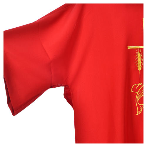 Deacon Dalmatic with embroidered loaves and fishes 100% polyester 7