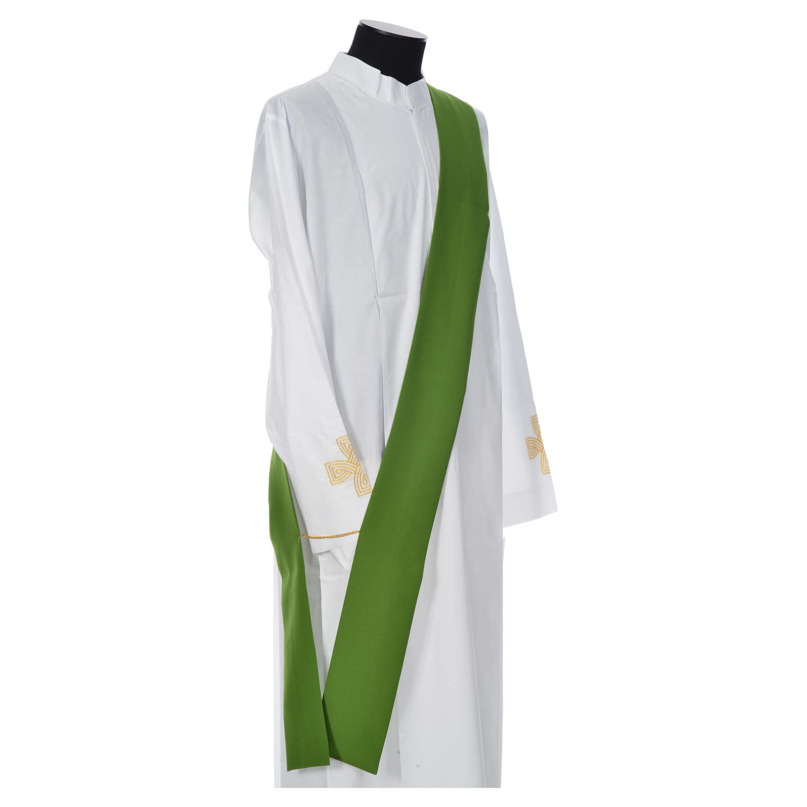 Eucharistic Dalmatic with cross, ear of wheat and flame 100% polyester 4