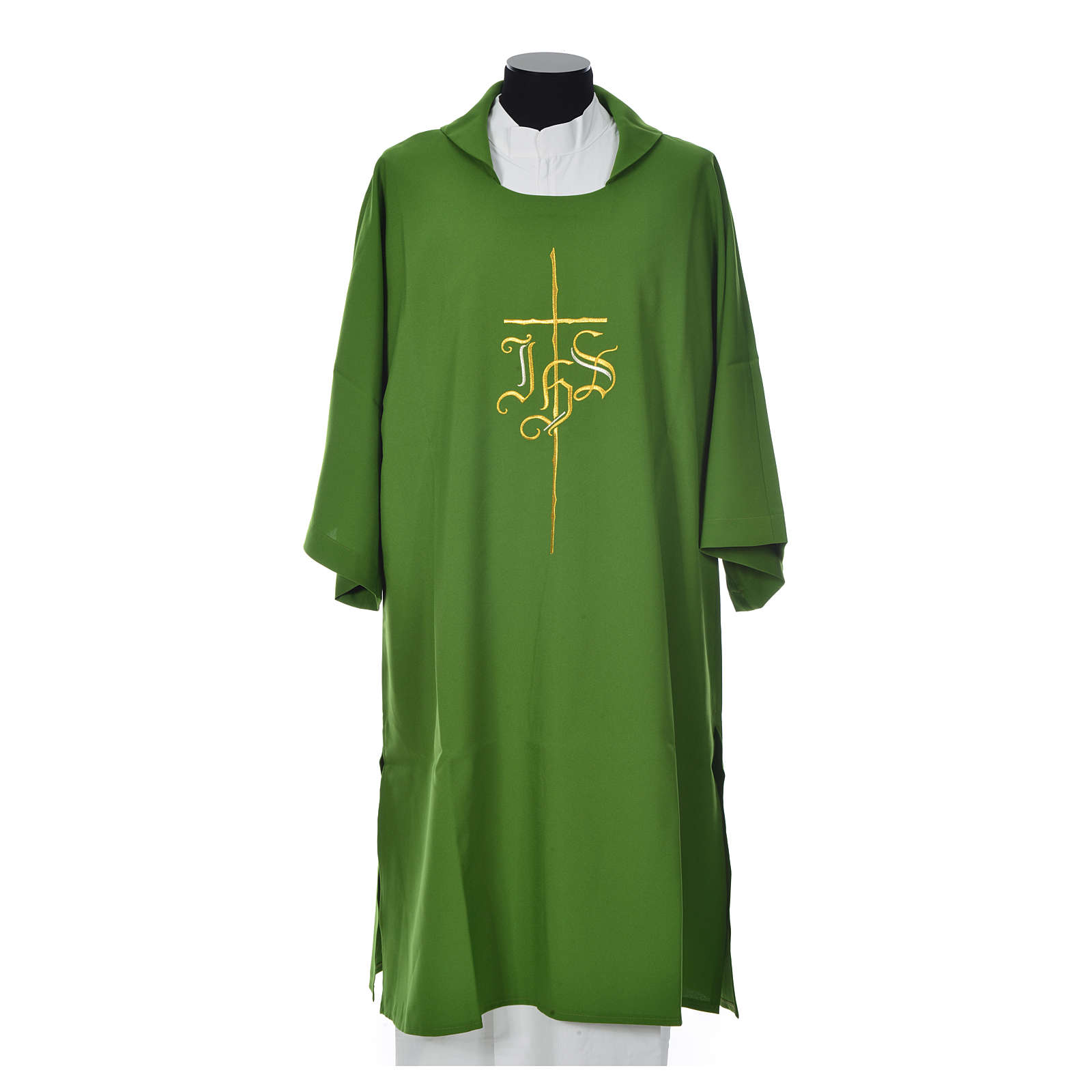 Dalmatik mit Kreuz und IHS Symbol Polyester 4