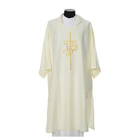 Dalmatik mit Kreuz und IHS Symbol Polyester s4