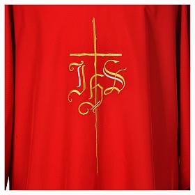 Dalmatik mit Kreuz und IHS Symbol Polyester s7