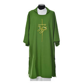 Dalmatic 100% polyester with cross and IHS symbol s6