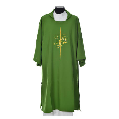 Dalmatic 100% polyester with cross and IHS symbol 6