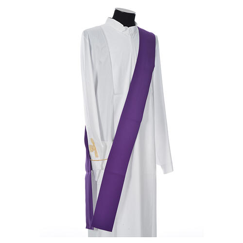Dalmatic 100% polyester with cross and IHS symbol 9