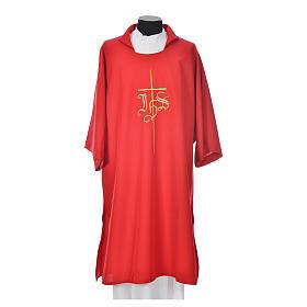 Dalmatique croix IHS 100% polyester s5