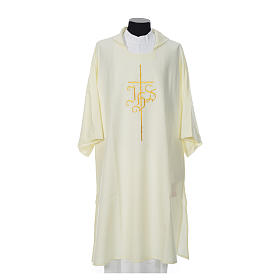 Religious Dalmatic 100% polyester with cross and IHS symbol s4