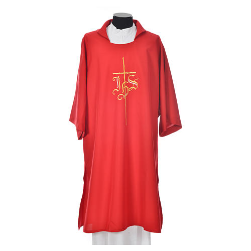 Religious Dalmatic 100% polyester with cross and IHS symbol 5