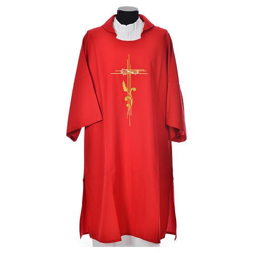 Dalmatique croix stylisée 100% polyester 5