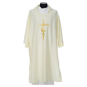 Deacon Dalmatic with stylized cross, ear of wheat 100% polyester s4