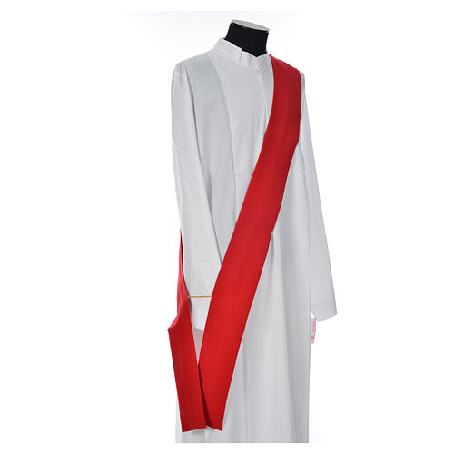 Deacon Dalmatic with stylized cross, ear of wheat 100% polyester 9
