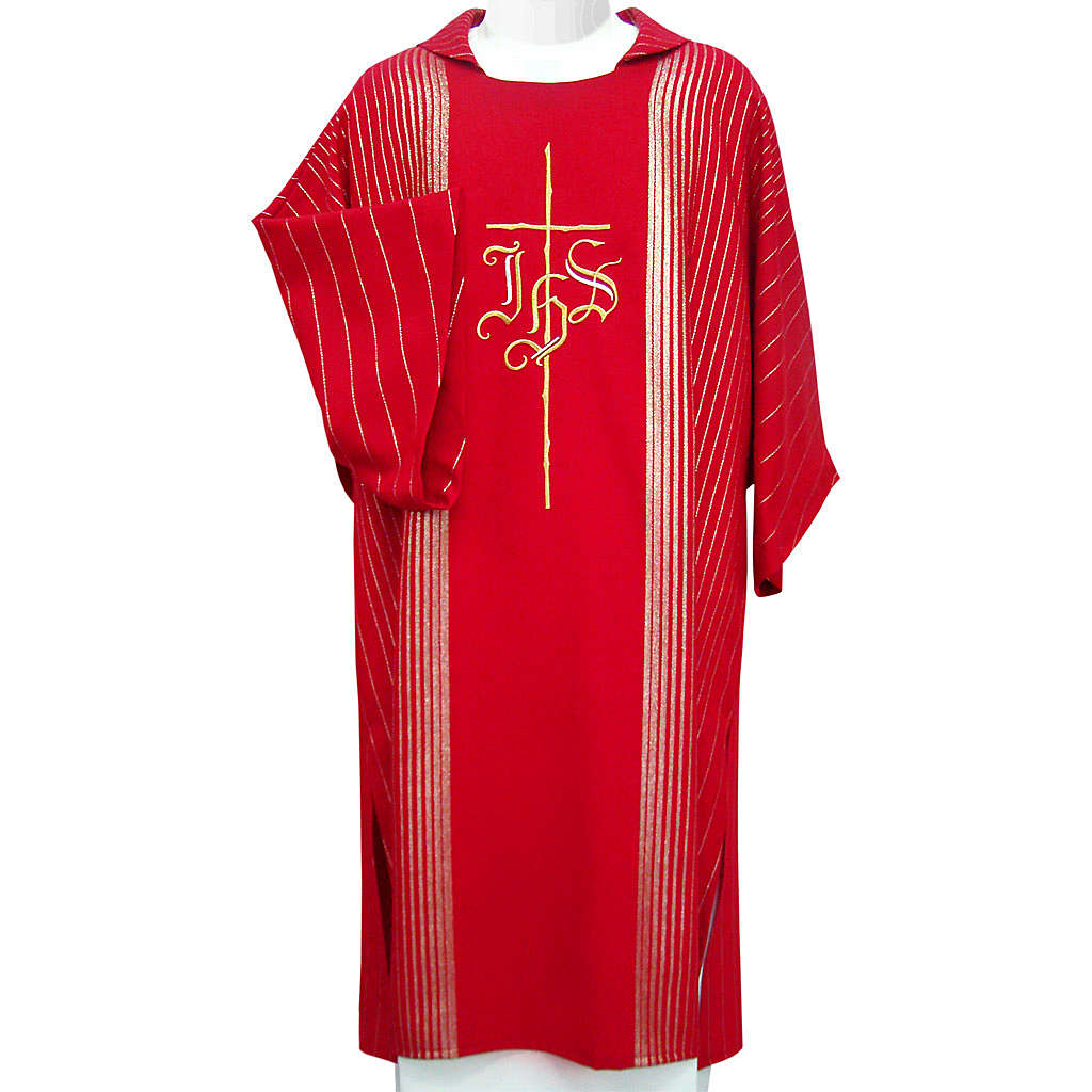 Dalmatic in pure virgin wool with twisted thread, IHS 4