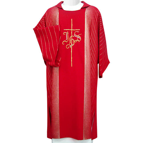 Dalmatic in pure virgin wool with twisted thread, IHS 1