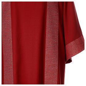 Dalmatica 100% pura lana, riporto 100% pura seta