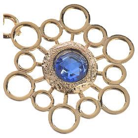 Gancio piviale dorato stella pietra blu s2