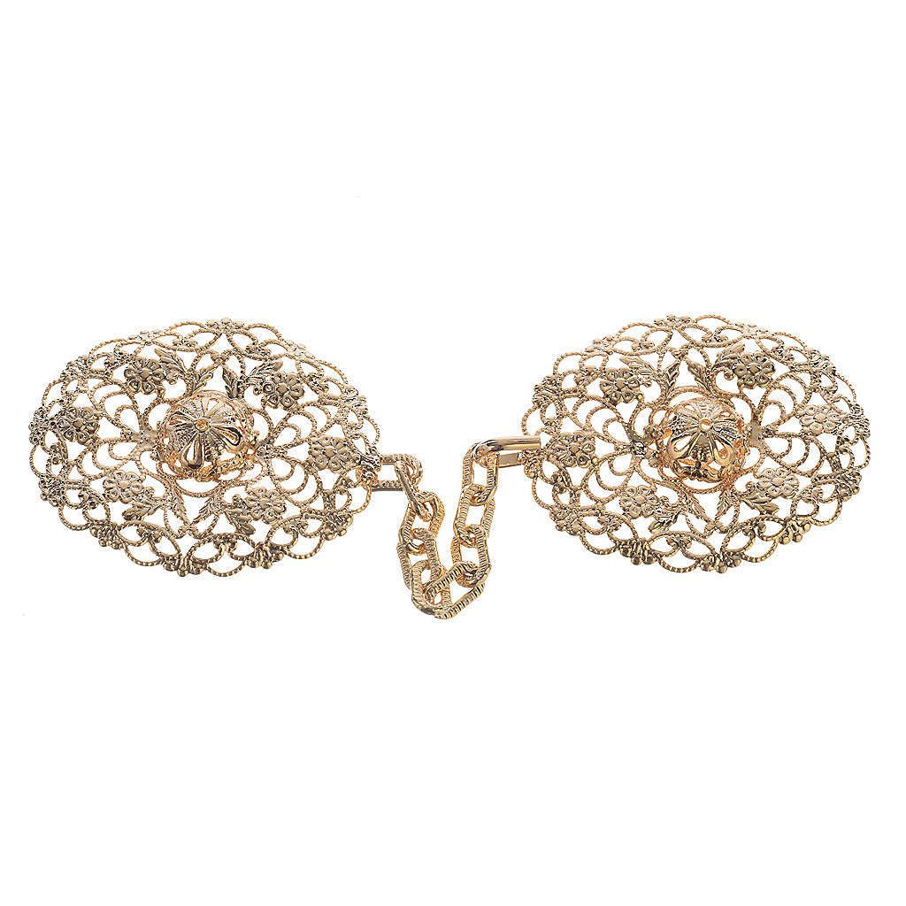 Cope clasp, gold-plated oval 4