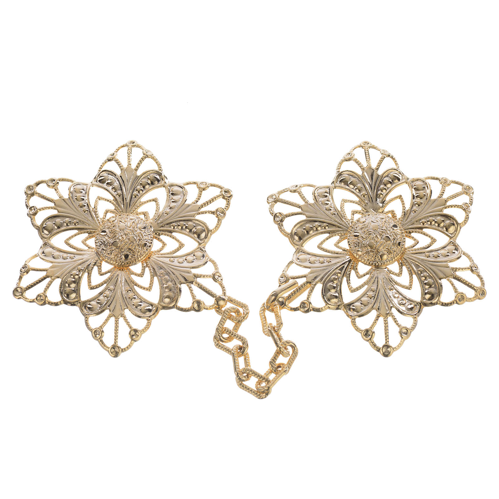 Cope clasp, gold-plated flower 4