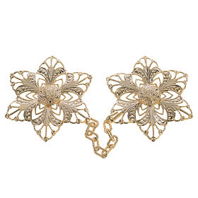 Cope clasp, gold-plated flower s1
