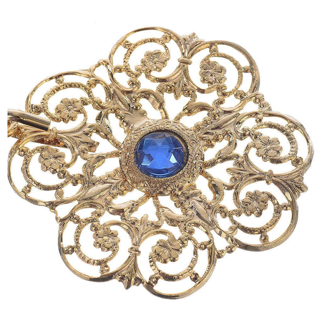 Accroches dorés pour chape pierres bleues 4