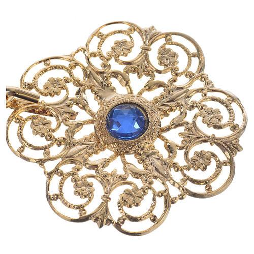 Accroches dorés pour chape pierres bleues 2