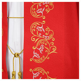 Cope in polyester with floral embroidery s8