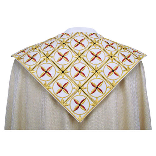 Cope in pure virgin wool with twisted thread and lurex, crosses 2