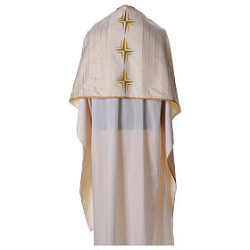 Humeral veil in 100% brushed wool two-ply fabric s1