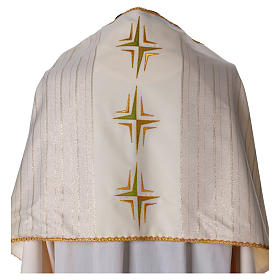 Humeral veil in 100% brushed wool two-ply fabric s2