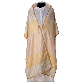 Humeral veil in 100% brushed wool two-ply fabric s3