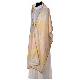 Humeral veil in 100% brushed wool two-ply fabric s5