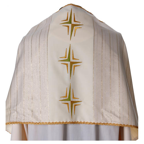 Humeral veil in 100% brushed wool two-ply fabric 2