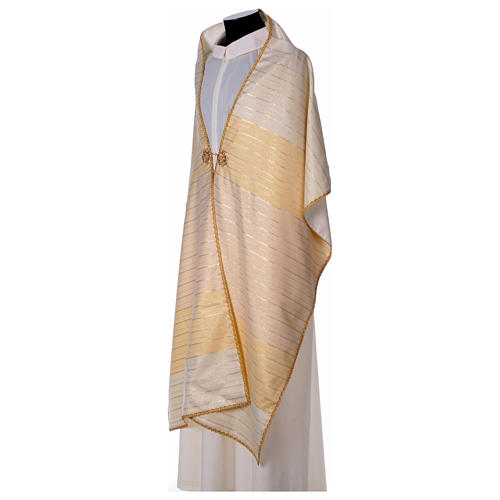 Humeral veil in 100% brushed wool two-ply fabric 5