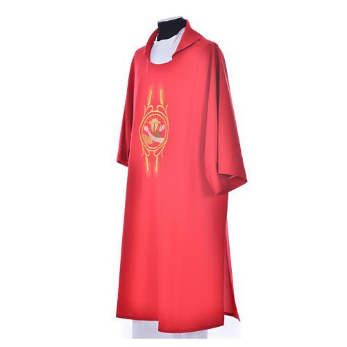 Dalmática 100% poliéster Escudo Franciscano 13
