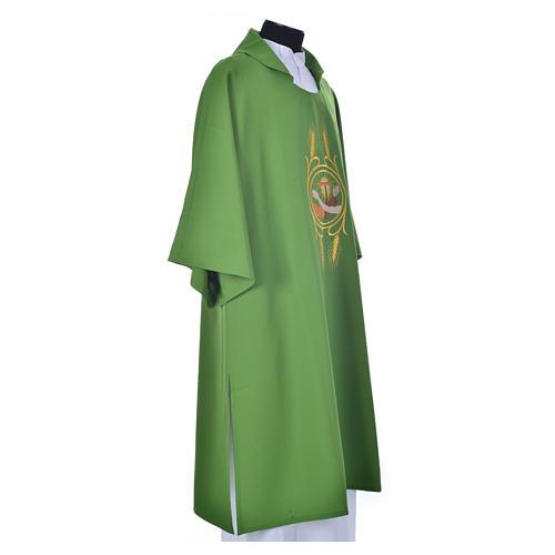 Dalmática 100% poliéster Escudo Franciscano 16