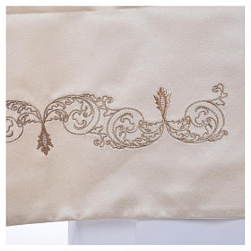 Humeral veil with chalice decoration 50x270cm, 100% polyester s4