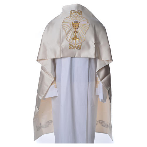 Humeral veil with chalice decoration 50x270cm, 100% polyester 1