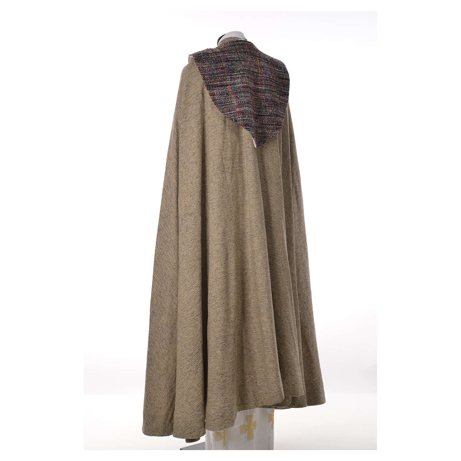 Franciscan cope 50% cotton 25% silk and 25% viscose 4