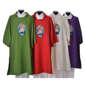 STOCK Dalmatic Jubilee Pope Francis with LATIN machine embroidery s1