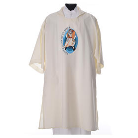 STOCK Dalmatic Jubilee Pope Francis with LATIN machine embroidery s4