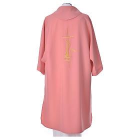 Dalmatica rosa 100% poliestere croce spiga fiamma s4