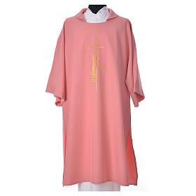 Dalmatica rosa 100% poliestere croce spiga fiamma s1