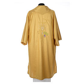 Gold dalmatic with embroided Chi-Rho chalice host s3