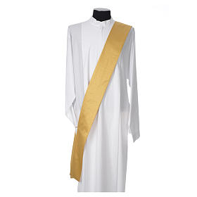 Gold dalmatic with embroided Chi-Rho chalice host s5