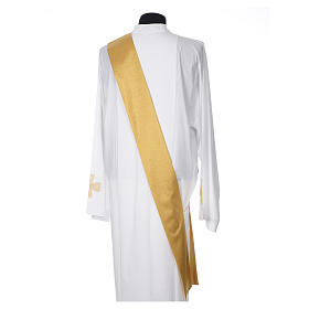 Gold dalmatic with embroided Chi-Rho chalice host s6