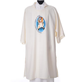 STOCK Dalmatic Jubilee of Mercy Pope Francis FRENCH logo embroided s4