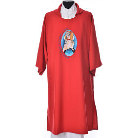 STOCK Dalmatic Jubilee of Mercy Pope Francis FRENCH logo embroided s5