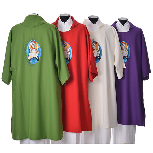 STOCK Dalmatic Jubilee of Mercy Pope Francis FRENCH logo embroided 2