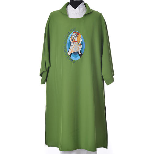 STOCK Dalmatic Jubilee of Mercy Pope Francis FRENCH logo embroided 6